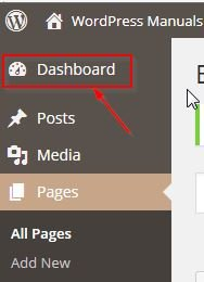 WordPress Manuals Dashboard
