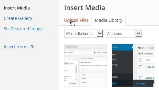 Add New Image to Post or Page - WordPress Manuals