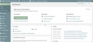 WordPress Dashboard in Build a Website with WordPress