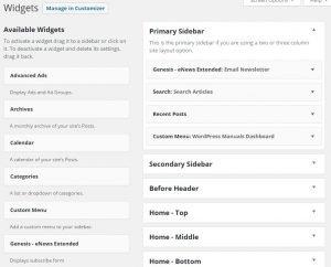 Widgets for WordPress Manuals